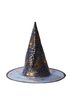 pointy hat: witch hat isolated on white background Stock Photo