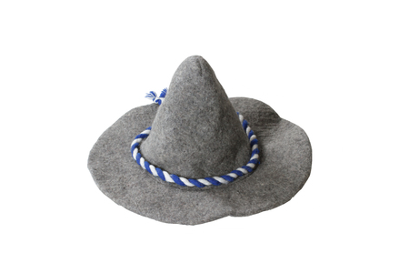 pointy hat: witch hatisolated on white background Stock Photo