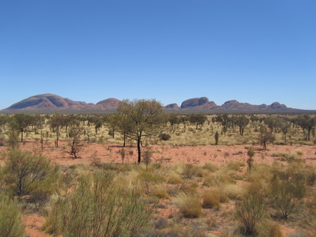 the outback: Kata Tjuta in outback