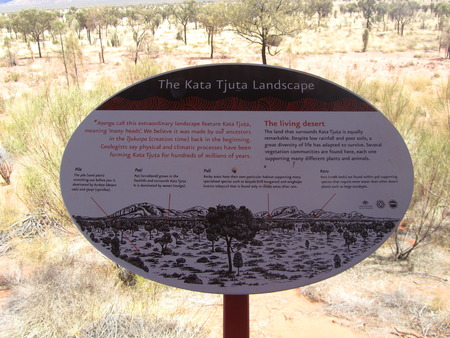 kata: Sign Kata Tjuta Stock Photo