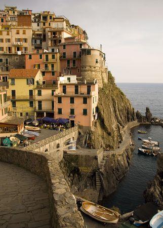 The village of Manarola in the Cinque Terre, Liguria, Italy. photo