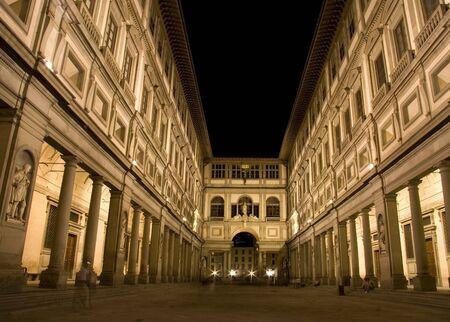 florence italy: The Uffizi Gallery