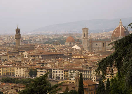 campanile: The Campanile and Duomo in Florence Stock Photo
