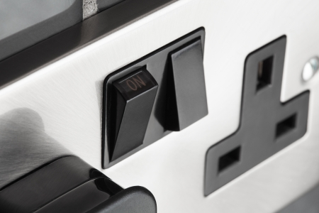 Double plug socket in contemporary kitchen Stock Photo - 14512563