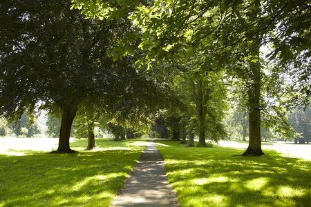 Gezicht op een park op een zonnige zomers dag. Abington Park Northampton