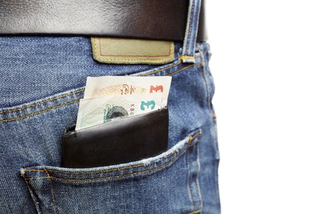 criminally: Man being pickpocketed for his wallet Stock Photo