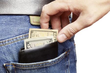 Man wordt pickpocketed voor zijn portemonnee