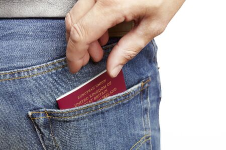 illegally: Man being pickpocketed for his wallet Stock Photo