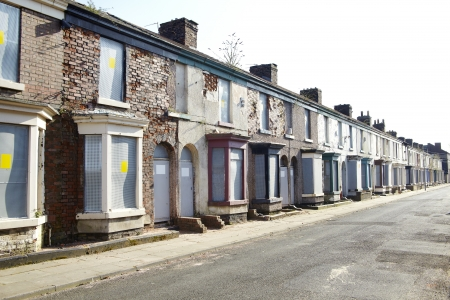 Boarded up terraced houses in Liverpool Stock Photo - 18386359