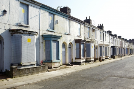 Boarded up terraced houses in Liverpool Stock Photo - 18386358