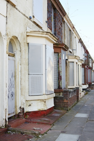 emptied: Boarded up terraced houses in Liverpool