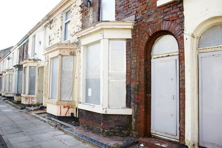 boarded: Boarded up terraced houses in Liverpool