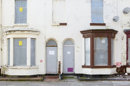 Boarded up terraced houses in Liverpool Stock Photo - 18386351