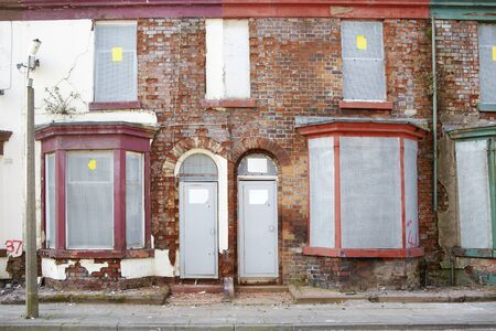 Boarded up terraced houses in Liverpool Stock Photo - 18386357