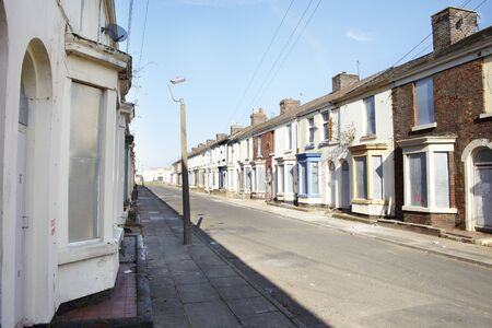 Boarded up terraced houses in Liverpool Stock Photo - 18386354