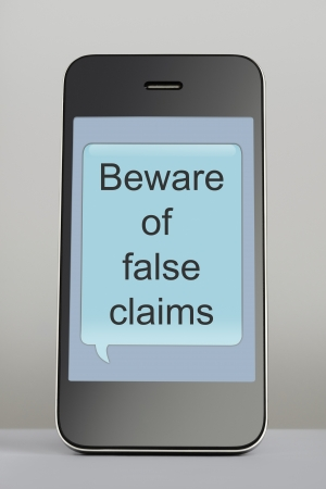 bother: Mobile phone with scam text message speech bubble