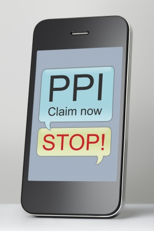 Payment Protection Insurance claim text message on mobile phone