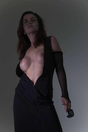 mujeres sexy en traje mostrando los senos  Foto de archivo - 743212