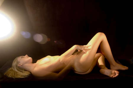 female nude posing  Stock Photo