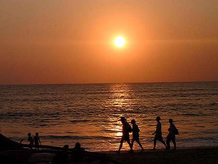 An Indian Beach In Goa,India Stock Photo