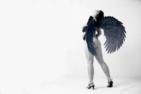 sexy nude angel standing