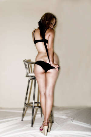 sexy female showing rear