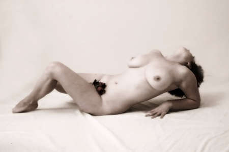 fine art nude: sexy nude female laying down