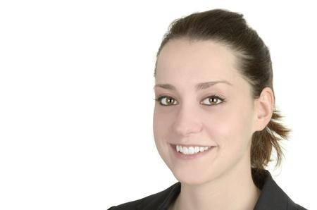 business woman, white background, studio shot, isolated Stock Photo - 14680023