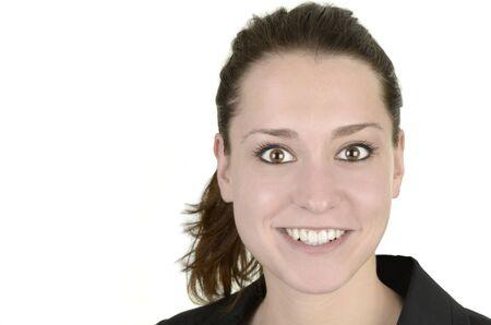 business woman, white background, studio shot, isolated Stock Photo - 14680025