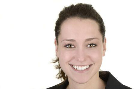 business woman, white background, studio shot, isolated Stock Photo - 14680021