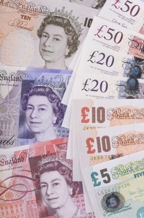 british banknotes pounds, studio shot Stock Photo