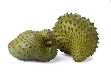 soursop fruit, isolated, studioshot Stock Photo