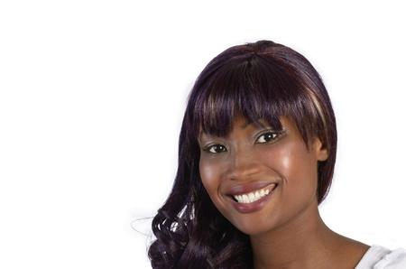 pretty african girl, studio shot
