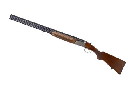 fusil de chasse: Fusil de chasse, isol�, studio, coup Banque d'images