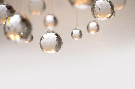 christmas beads: Hanging crystal balls, studio shot