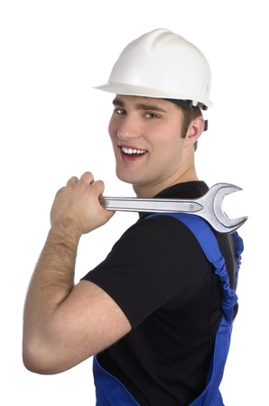 Construction worker with tool Stock Photo - 20045669
