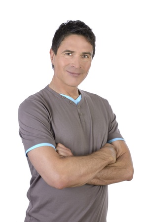 Good looking man in his fifties, Studio Shot Stock Photo - 20324384