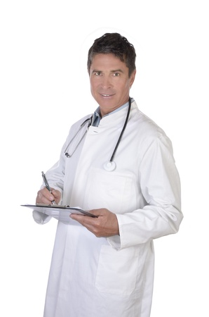 Portrait of smiling mature doctor