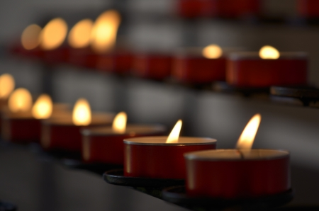 liturgical: Candles in Church to remember the  dead, Indoor