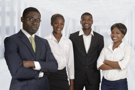 African Business Team, Studio Shot, Kamerun Stock Photo