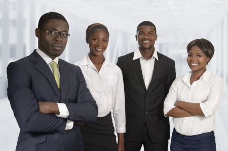 African Business Team, Studio Shot, Kamerun Stock Photo