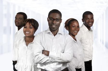 African Business Team  Five Partners, Studio Shot
