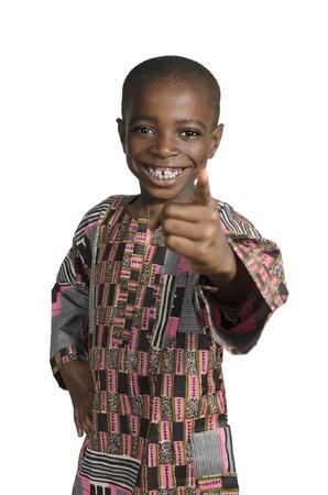 garcon africain: Garçon d'Afro-Portrait, Prise de vue en studio Banque d'images