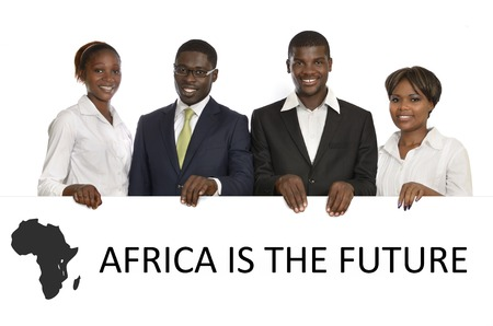 african business: African Business People Africa is the future, Studio Shot Stock Photo