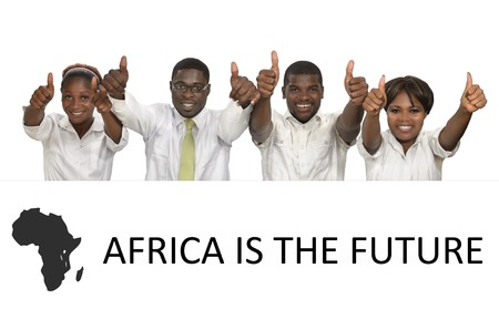 African Business People Africa is the future, Studio Shot Stock Photo