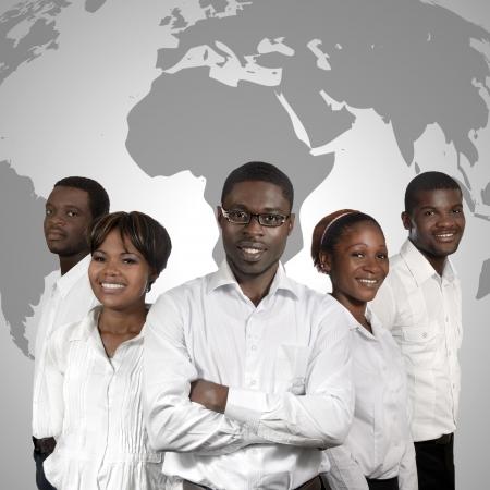 African Business gens Carte du monde, Prise de vue en studio Banque d'images - 24485396