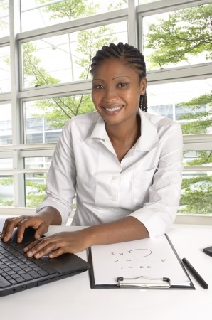 African Student   Business Woman, Studio Shot