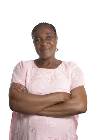 black empowerment: Friendly african Mother Portrait, Studio Shot