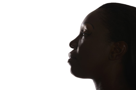 Profile of African Woman,  Studio Shot photo