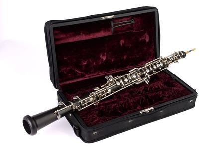 oboe: Oboe with case, Studio Shot